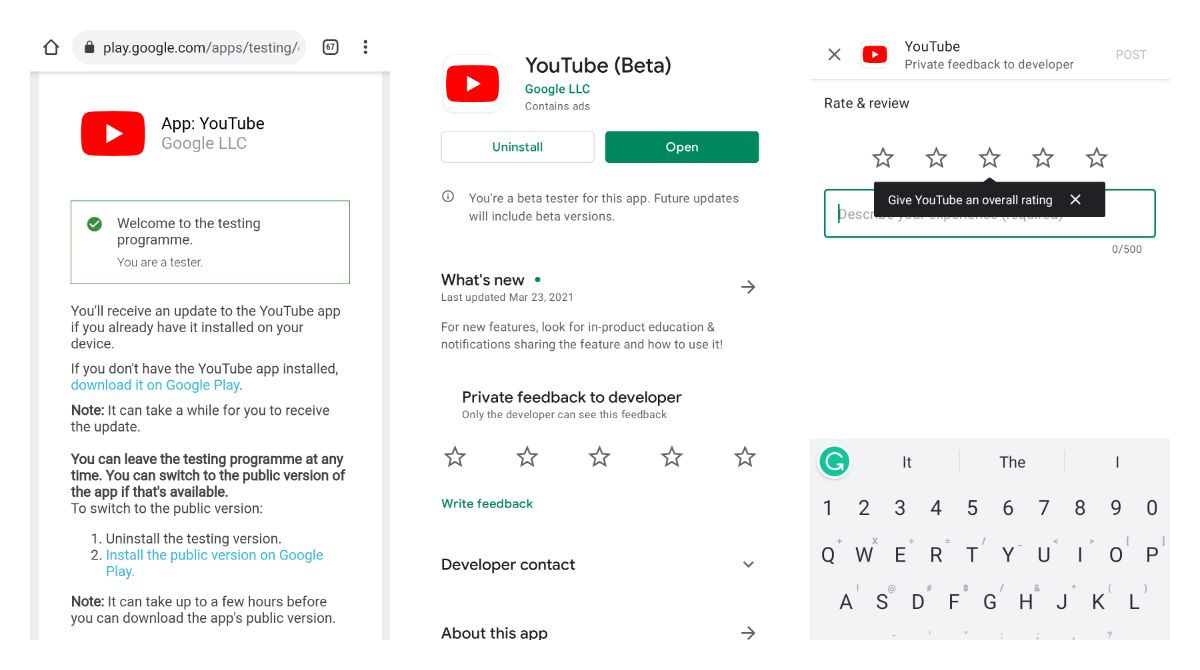 How to become YouTube beta tester on Android