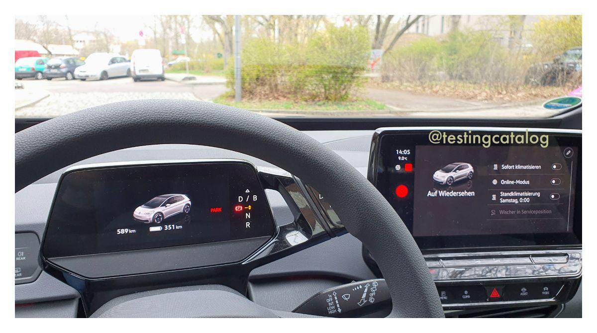 Volkswagen ID3 interface