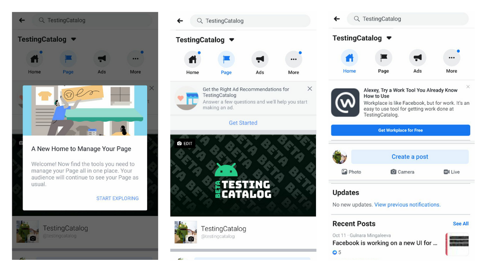 "Facebook pushed a Newsfeed for Pages to split your feed browsing time between ""personal"" and ""work-related"""