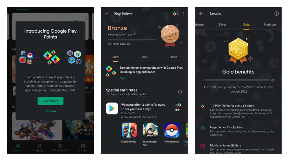 Google Play Points program got released to more users and this is how to test them