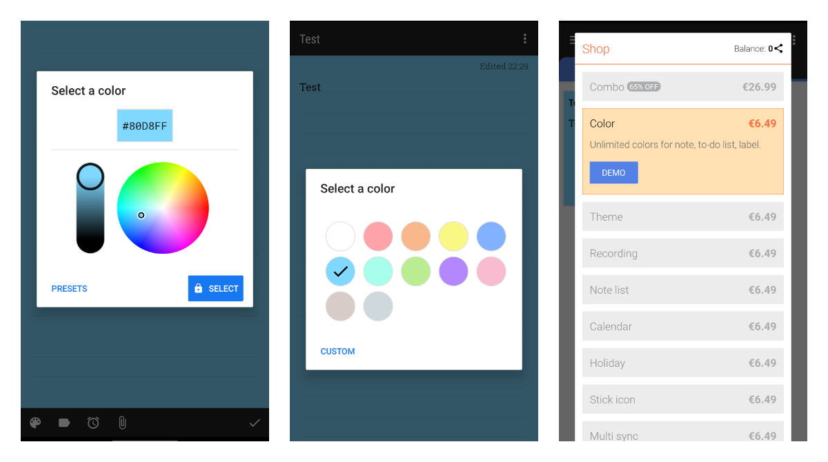 WeNote is looking for beta testers to offer a promo-code for its premium custom colors  feature
