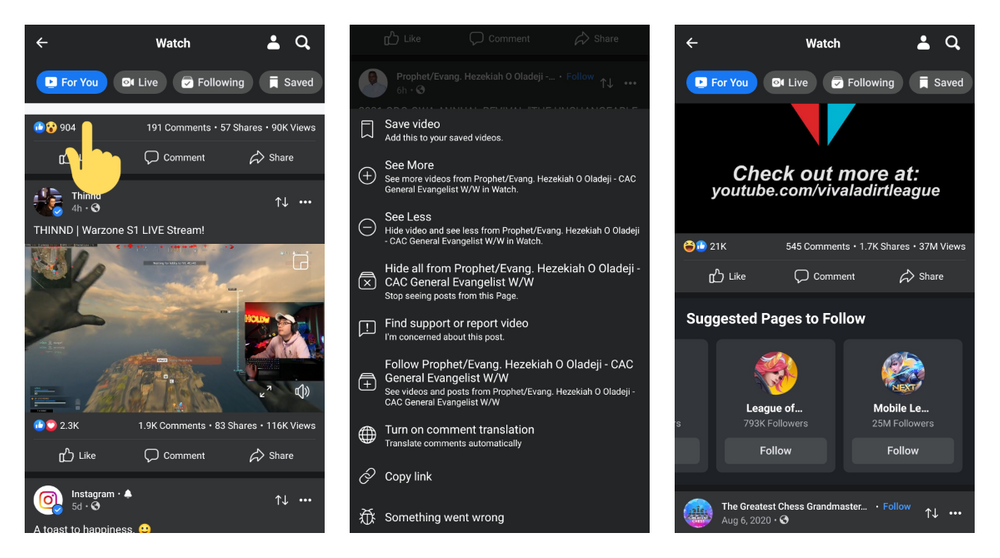 Facebook For You Watch tab rolled out to more users on Android