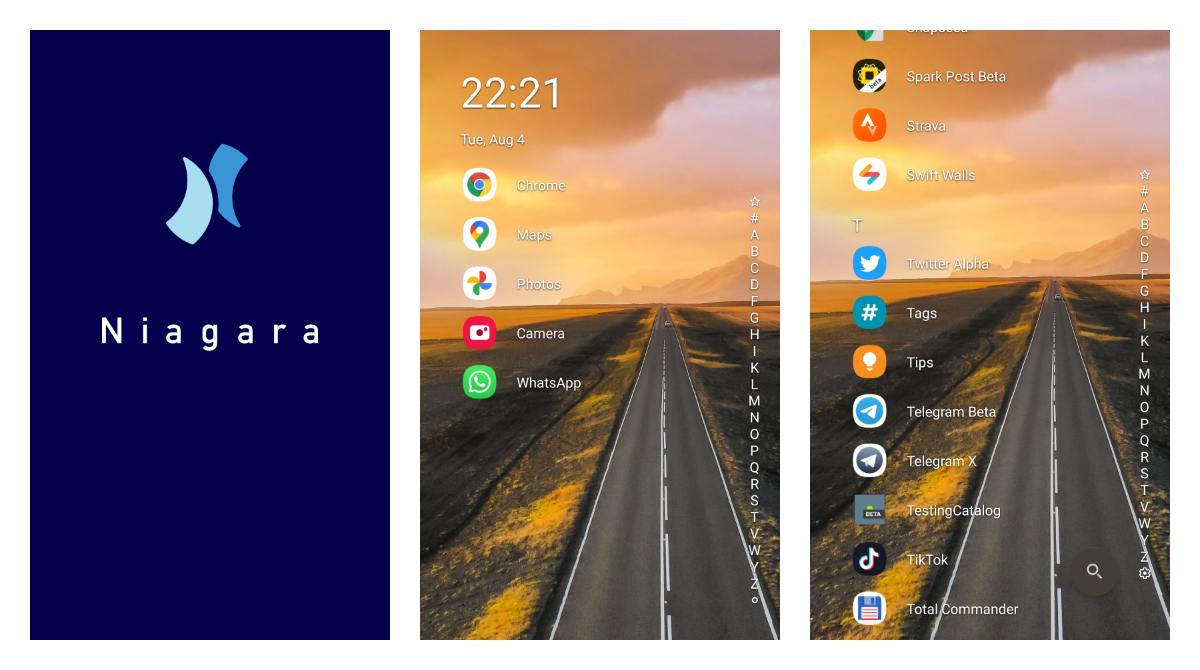 Niagara Launcher 0.8.0 alphas finally bring the long-awaited support for widgets
