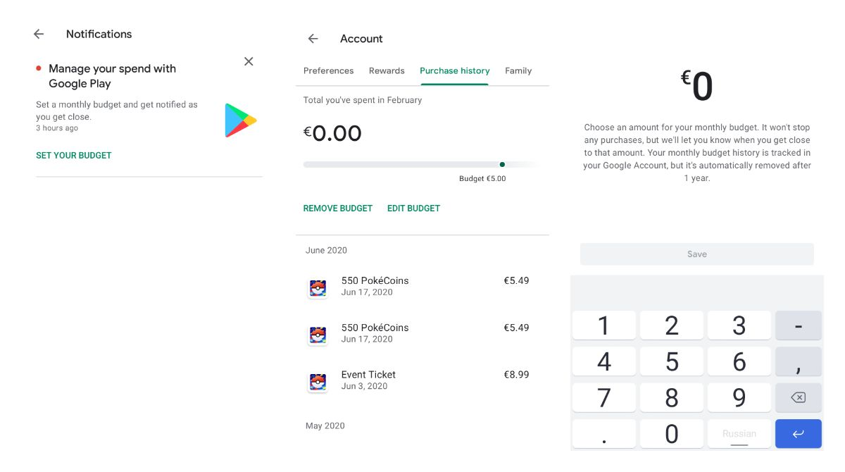How to set a spending limit on Google Play