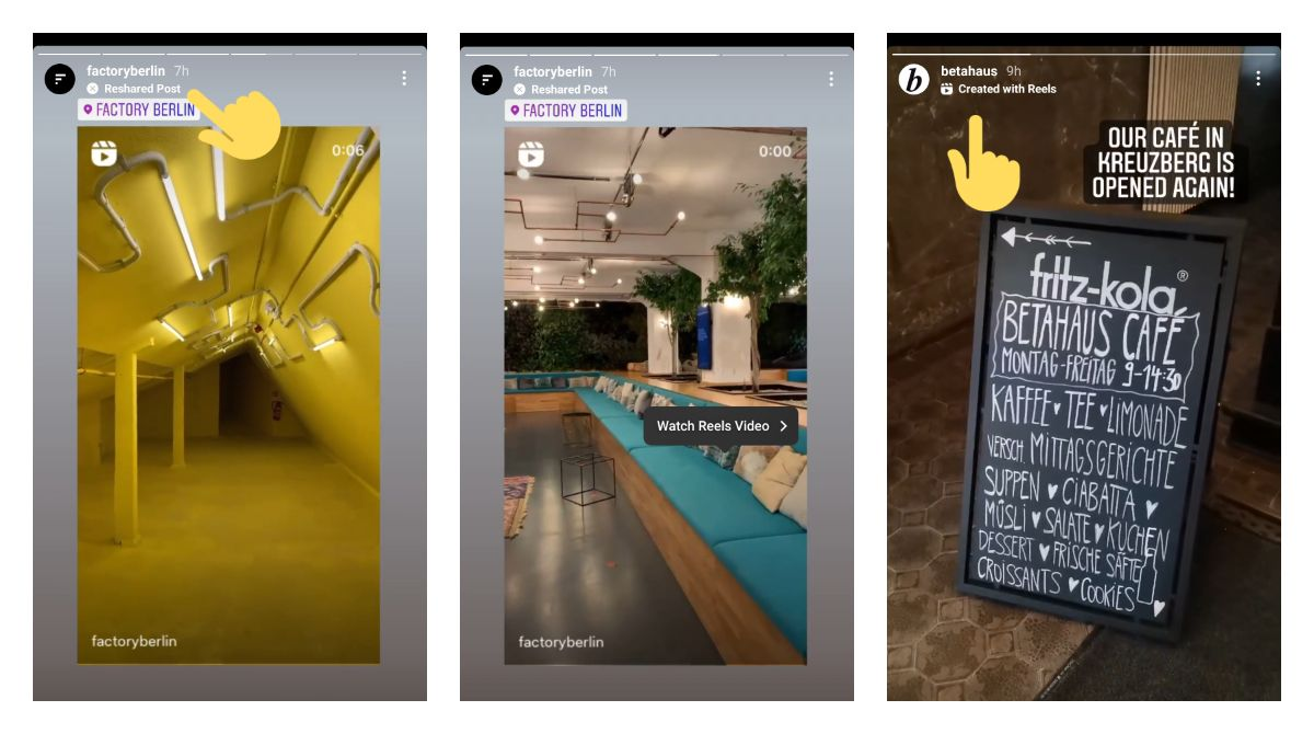 Instagram marks reshared posts in stories with a new label for some users - Atualizações do Instagram 2021